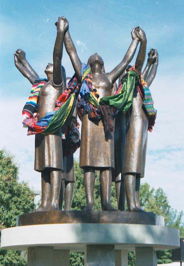 Martyr statue w shawls