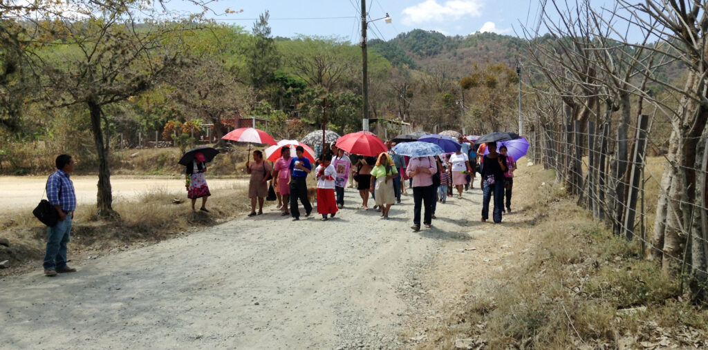Walking the way of the cross, Guatemala
